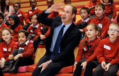 Prince William couldn't have been more adorable with these kids during a charity event.