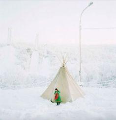 winter teepee