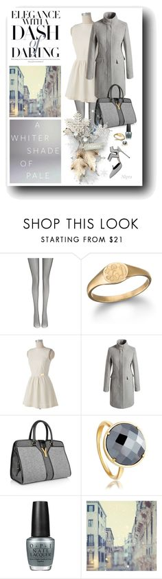"""answer"" by alevalepra ❤ liked on Polyvore featuring Wolford, Ginette NY, Jennifer Lopez, Yves Saint Laurent, Astley Clarke and OPI"