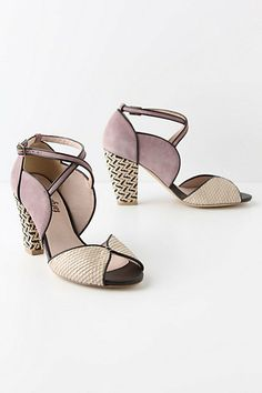 Farylrobin Mixed Media shoes...i seriously want these, anyone know where I can find a 6.5 or 7 in these lovely shoes? #anthrofav