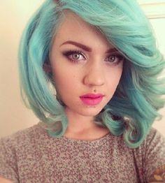 pastel hair colors mint green 2016