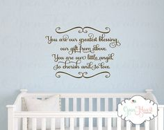 every good and perfect gift wall decal baby nursery wall quote