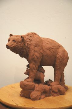 New mama bear sculpture