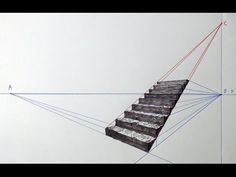 Perspective Drawing Lessons, Perspective Art, L Shaped Stairs, How To Draw Stairs, Figure Drawing Tutorial, 3d Pencil Drawings, Interior Design Sketches, Purple Wallpaper Iphone, Architecture Drawings