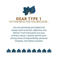 Thanksgiving is a great time to reflect on how God beautifully created each of us with unique, wonderful attributes that bless others. Enneagram Type One, Enneagram Types, Personal Integrity, Truth And Justice, Myers Briggs Personalities, Mbti Personality, Get To Know Me, Infj, Life Lessons