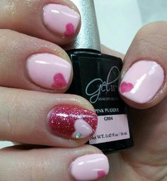 Valentines Day nails.