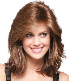 Discount Medium Wavy Lace Front Auburn Real Hair Wigs will make you more beautiful and confident in your life! Shop huge inventory of Human Hair Wigs at Wigsway. Square Face Hairstyles, Hairstyles For Round Faces, Wig Hairstyles, Makeup Hairstyle, Hairstyle Ideas, Bob Hairstyle, Feathered Hair Cut, Feathered Hairstyles, Remy Human Hair