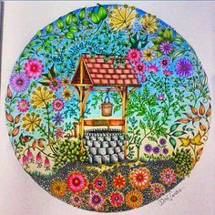 Johanna Basford Secret Garden Coloring Pages Adult Book Art Colorful