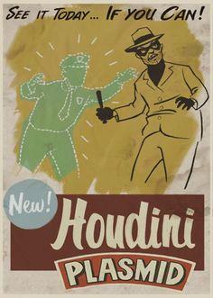 Houdini: Allows the player to temporarily turn invisible. Bioshock Rapture, Bioshock Game, Bioshock Infinite, Infinite Art, Travel Posters, Apocalypse, Vintage Posters, Retro Vintage, Geek Stuff