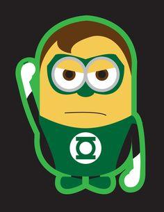 Despicable Me minions as superheroes-Lantern