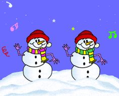 Animated Christmas Gifs 3 - Snow - Snowman - Snowballs