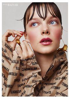 for Harper's Bazaar Turkey M Beauty, Beauty Shoot, Beauty Makeup, Hair Makeup, Hair Beauty, Pelo Editorial, Beauty Editorial, Editorial Fashion, Minimalist Makeup