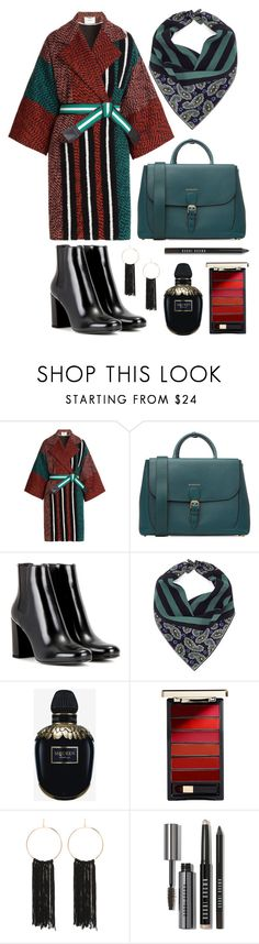 """""""Trending Topic Challenge: Tweed Coats"""" by bechs ❤ liked on Polyvore featuring Fendi, Burberry, Yves Saint Laurent, Rockins, Alexander McQueen, L'Oréal Paris, Bebe and Bobbi Brown Cosmetics"""