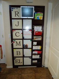 DIY~ Family Daily Organization Board- (This project was inspired by Pottery Barn Kids)