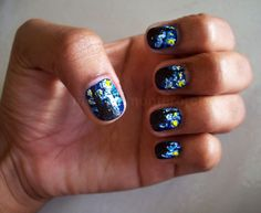 Van Gogh's Starry Night on your nails