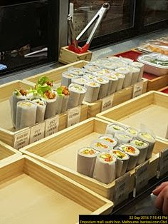 White Paper wrapped sushi   Food-And-Drinks Paper Sushi