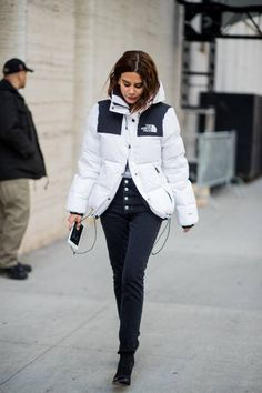 The Jacket everyone is racing out to get this winter! As seen on Christine Centenra #northface #christinecentenera