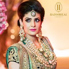 #BridesOfHazoorilalLegacy - And the legacy of a lifetime begins. Our seasoned Polki creations on a quintessential Hazoorilal Legacy bride. #HazoorilalLegacy #PolkiPerfection #HLBride #HouseOfHazoorilalLegacy #KundanPolki