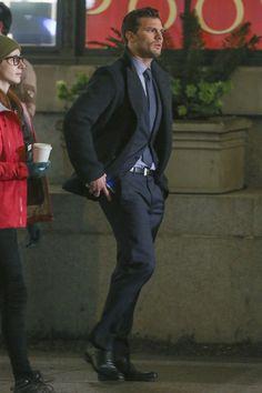 Jamie Dornan as Christian Grey filming Fifty Shades Darker & Freed http://everythingjamiedornan.com/gallery/thumbnails.php?album=185