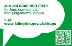 "Islington ""Say Something"" campaign business card Car Share, Say Something, Drugs, Campaign, Advice, Chart, Sayings, Business, Tips"