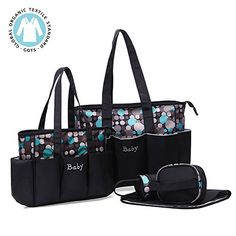 Diaper bag,Kuoser 5 pieces Polka Dot Diaper bags set Wate... https://www.amazon.com/dp/B01LESZ3VM/ref=cm_sw_r_pi_dp_x_n.P2zbAXW285A