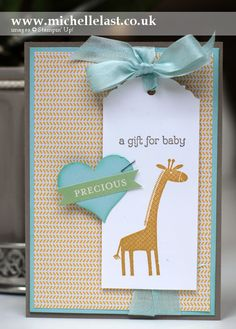 Baby card for Stamping&Blogging using Zoo Babies from Stampin' Up! - Stampin' Up! Demonstrator Michelle Last
