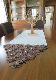 Ordonnateurs-linnen tabel Runner-Beige Groundcloth door sesideco