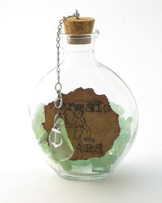 Mermaid Tears Glass Apothecary Flask by MermaidTearsSeaglass, $18.00