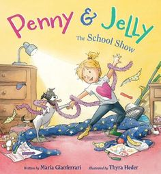 Penny and Jelly the School Show written by Maria Gianferrari and illustrated by Thyra Heder. As the talent show nears, Penny and her trusty canine companion Jelly scramble to find Penny's Book Writer, Book Authors, 2016 Penny, New Pictures, Funny Pictures, Book Bins, Houghton Mifflin Harcourt, Early Literacy, Childrens Books