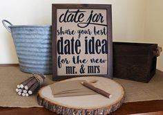 ON SALE . Rustic Date Jar Sign Wedding Date Jar Printable