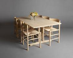 Mjölk : C18 dining table - Beech finish - Borge Mogensen (W3ft x L5.91ft x H2.3ft) - C18 Beech