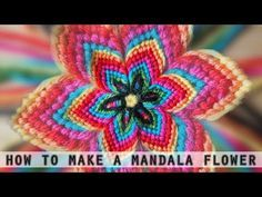 How To: Macrame flower / Makramee Blume / Macrame fiore, flor, fleur - YouTube