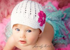 Baby Girl Hats Newborn Hats Baby Hats Photo Prop by LovelyKnits, $20.95