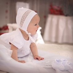 Handmade baby girl clothes for baptism and festive events. Find more amazing baby outfits for boys and girls.
