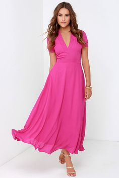 Take a Twirl Fuchsia Midi Dress at Lulus.com!