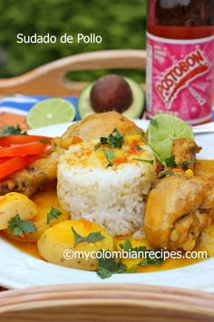 Sudado de Pollo is a Colombian-Style Chicken Stew. The sauce is what really makes this dish and when you mix it with white rice it is delicious.This is a truly traditional Colombian cuisine that Colombians eat every day. Colombian Dishes, My Colombian Recipes, Colombian Cuisine, Typical Colombian Food, Colombian Drinks, Plats Latinos, Columbian Recipes, Peruvian Recipes, Comida Latina