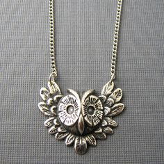 Flying Owl Necklace now featured on Fab.