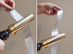 iron out your ribbons to remove creases (low heat and remove hair product residue before use) Wedding Guest Book, Diy Wedding, Wedding Bouquet, Wedding Stuff, Arts And Crafts Projects, Hobbies And Crafts, Large Barrel Curling Iron, Ribbon Curls, Helpful Hints