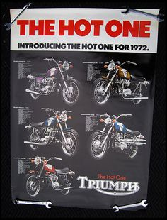 : Vintage Triumph Motorcycle Promotional Posters
