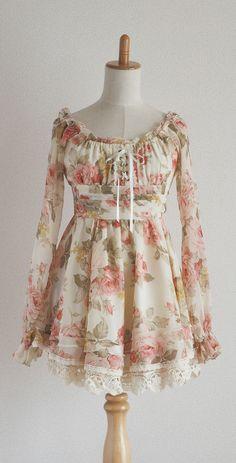LIZ LISA Japan Floral Organdy dress Kawaii Lolita Hime Gyaru Shibuya109 #LizLisa #Tunic