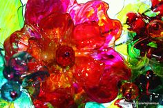 Chihuly Bellagio Ceiling inspired Water bottle Wreath by ArtePlastique