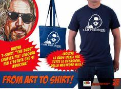 """Enrico Sordi: Nuova T-Shirt """"The Dude"""" grafica più leggera per l..."""