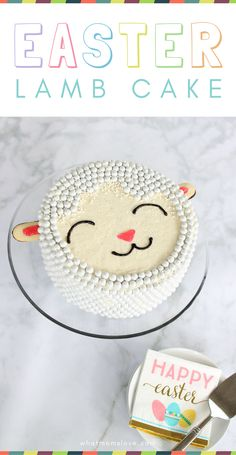 How to make an Easter Lamb cake - forget the bunny and chick, this DIY sheep cake is so easy to make and decorate using candy Sixlets! Includes simple tutorial and recipe and is made without a mold! Easter Dinner, Easter Brunch, Sheep Cake, Lamb Cake, Easter Lamb, Easter Treats, Easter Food, Easter Recipes, Dessert Recipes