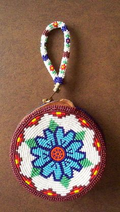 Native American Beadwork  Beaded Coin Purse or by vintagesouthwest, $98.00