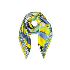 Emilio Pucci Square Scarves Macro Paisley Print Twill Silk Square... ($275) ❤ liked on Polyvore featuring accessories, scarves, mint, square scarves, emilio pucci scarves, logo scarves, paisley scarves and paisley shawl