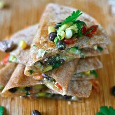Quesadillas with Cowboy Caviar & Steak - #foodie #foodporn #recipe #cooking #recipes #MyBSisBoss