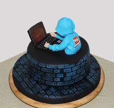 Cyber Themed cake - The Cake Lovers Teen Boy Birthday Cake, 18th Birthday Cake For Guys, Bithday Cake, Birthday Cakes For Teens, Ps4 Cake, Computer Cake, Playstation Cake, Jake Cake, Cake Design For Men