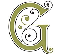 monogram G. (we're naming our first daughter Virginia/Ginny)