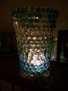 Illuminated beaded votive
