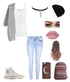 """I love beanies ❤️"" by geekystyler ❤ liked on Polyvore featuring Vince, Chicwish, Glamorous, Converse, Lime Crime, Rick Owens and Billabong"